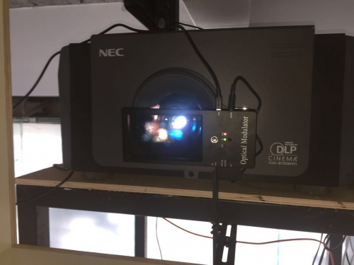 NEC电影机安装单光路3D系统设备YT-PS600C